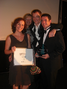 The team collect Wirral environmental award